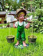 """Садовая фигура """"Мальчик с вёдрами"""" Глянец 50 см"""