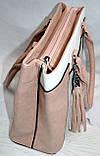 Женские повседневные летние сумки из искусственной кожи с комбинированными цветами 33*25 см, фото 2