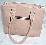 Женские повседневные летние сумки из искусственной кожи с комбинированными цветами 33*25 см, фото 3