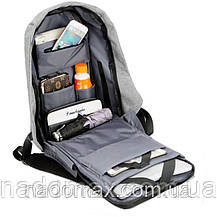 Рюкзак  Антивор  (Bobby) с USB зарядкой фиолетовый!, фото 3