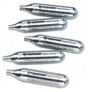 5 баллонов Co2 Crosman/Borner/SAS 12гр