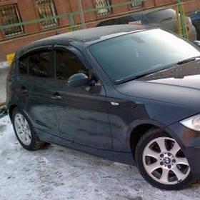 Ветровики дефлекторы окон BMW 1 (E81/E87) 04-11 COBRA TUNING (Накладные)