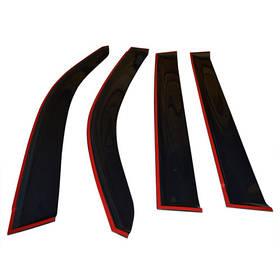 Дефлекторы окон ветровики БМВ 1 (Ф20) BMW 1 (F20) 11- COBRA TUNING (Накладные)
