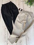 Модные брюки в полоску вертикальную укороченные норма, два цвета р.42,44,46 код 753Г, фото 2
