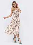 Силуэтное платье-миди в горох  ЛЕТО, фото 7
