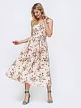 Силуэтное платье-миди в горох  ЛЕТО, фото 6