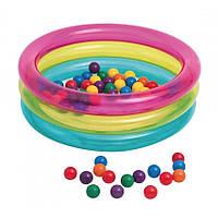 Надувной бассейн с шариками Intex 48674