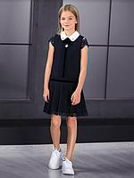 Красивый школьный сарафан (черный) тм МONE р-р 134,140,146