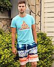 Різнокольорові пляжні шорти Gailang на шнурівці, фото 4