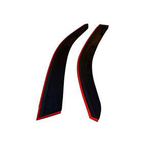 Ветровики дефлекторы окон Fiat 500 07- COBRA TUNING (Накладные)