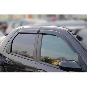 Ветровики дефлекторы окон Fiat Albea 02-12 COBRA TUNING (Накладные)