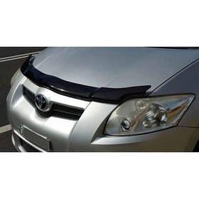 Дефлектор капота мухобойка Тойота Ауріс 1 Toyota Auris I 07-12 SIM