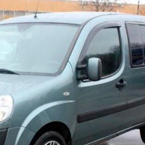 Дефлектори вікон вітровики Фіат Добло 1 Fiat Doblo I 00- COBRA TUNING (Накладні)