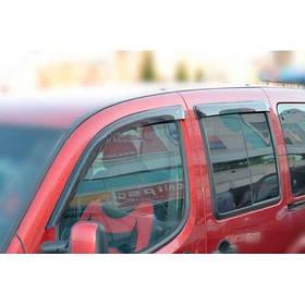 Ветровики дефлекторы окон Фиат Добло 2 Fiat Doblo II 10- COBRA TUNING (Накладные)