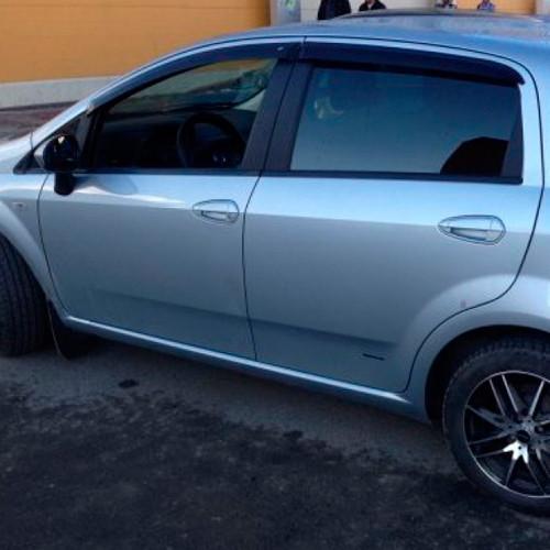 Дефлектори вікон вітровики Фіат Пунто 3 Fiat Punto III 05- COBRA TUNING (Накладні)