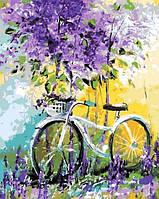 Картина по номерам Велосипед в зарослях лаванды. Худ. Ольга Дарчук 40х50см Mariposa Q765