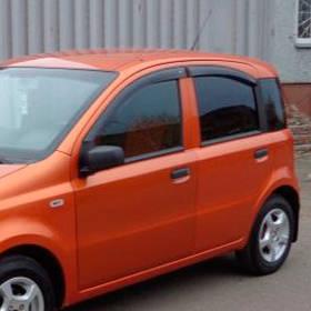 Ветровики дефлекторы окон Fiat Panda II 03-12 COBRA TUNING (Накладные)