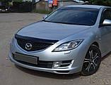 Дефлектор капота (мухобойка) Mazda 6 2008-2012 (EGR), фото 3