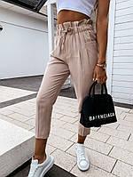 Женские брюки светлый беж 42-44 и 44-46 костюмка SKL11-250641