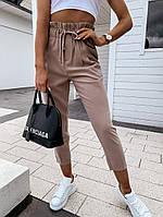 Женские брюки темный беж 42-44 и 44-46 костюмка SKL11-250643