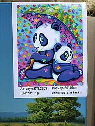 Картина по номерам 30*40 см сложность 4 Панда