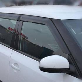 Дефлекторы окон ветровики Шкода Фабия 2 Skoda Fabia II 07- COBRA TUNING (Накладные)