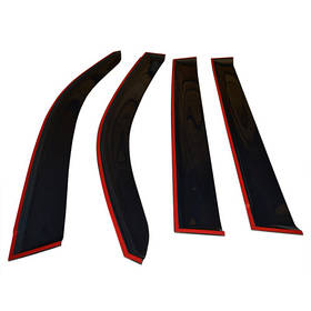 Дефлекторы окон ветровики Шкода Кодиак Skoda Kodiaq 16- COBRA TUNING (Накладные)