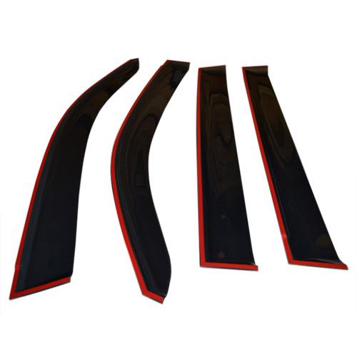 Вітровики дефлектори вікон Ford Ranger III 11 - COBRA TUNING (Накладні)