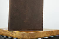 """Блокнот в кожаной обложке а5 коричневого цвета """"singapore"""", фото 4"""