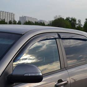 Дефлекторы окон ветровики Ссанг Йонг Актион SsangYong Actyon 05- COBRA TUNING (Накладные)