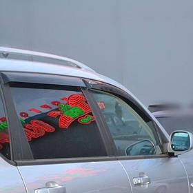 Дефлекторы окон ветровики Санг Йонг Рекстон 1 SsangYong Rexton I 01-12 COBRA TUNING (Накладные)