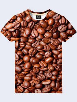 Мужская футболка с принтом Кофейные зерна