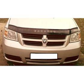 Дефлектор капота мухобойка Додж Караван Dodge Caravan V 07- VIP TUNING (В штатные места под капотом)