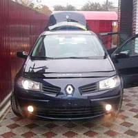 Дефлектор капота мухобойка Renault Megane II 02-09 VIP TUNING (В штатные места под капотом)