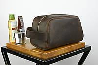 """Кожаный дорожный несессер коричневого цвета """"barcelona"""", фото 3"""