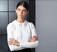 Школьная блузка со съемным воротником тм МОНЕ р-ры 122,128,134