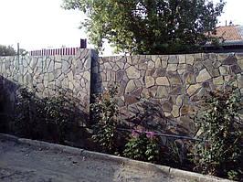 Забор облицованный андезитом 3