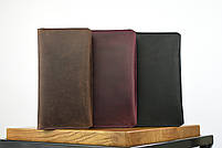 """Кожаный кошелек на купюру черного цвета """"travel case"""", фото 6"""