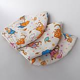 3 слойная многоразовая защитная маска с принтом хлопковая натуральный хлопок Подростковая Детская Женская коты, фото 7