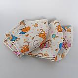 3 слойная многоразовая защитная маска с принтом хлопковая натуральный хлопок Подростковая Детская Женская коты, фото 5