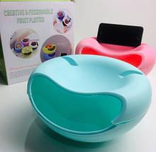 Двойная тарелка для семечек с подставкой для телефона ART-6182/1260 (60 шт/ящ)