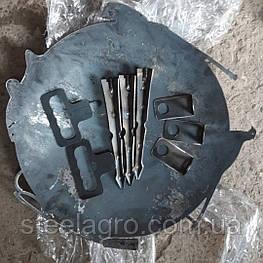 """Сковорода на мангал ф500мм s-4мм для пікніка """"ПОДАРУНКОВА"""" (з диска, борони)"""