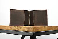 """Кожаный зажим для денег коричневого цвета """"lisbon"""", фото 3"""