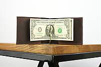 """Кожаный зажим для денег коричневого цвета """"lisbon"""", фото 4"""