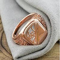 Печатка мужская Xuping. Золото розовое (покрытие) 585 пробы. 21 размер