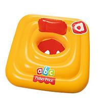 Детский плотик надувной квадратный BestWay со спинкой 69х69 см, оранжевый
