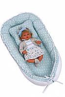 Кокон - гнездышко для новорожденного Twins Маршмэллоу 82х44 см., мятный