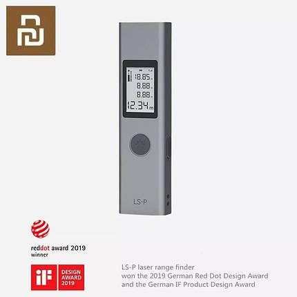 Цифровой лазерный дальномер Xiaomi Duka LS-P до 40 метров, фото 2