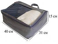 Набор дорожных сумок 5 шт., серый (122103)