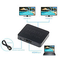 Сплитер HDMI 1x2 + шнур microUSB